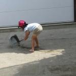 砂集めを一生懸命にしてくれました。