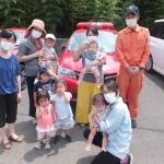 カッコイイ赤い車の前で(^o^)