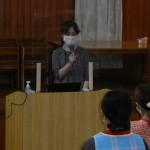 園児:職員の健康な生活について日常心がけることの講義を受けました。